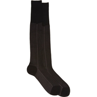 Barneys New York Stripe Knee High Socks Black