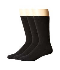 Smartwool Heavy Heathered Rib 3 Pack Black Men's Crew Cut Socks Shoes
