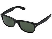 Ray Ban Rb2132 New Wayfarer 55Mm Black Rubber Frame Green Lens Fashion Sunglasses