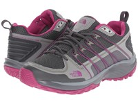 The North Face Litewave Explore Zinc Grey Fuchsia Pink Women's Shoes Gray
