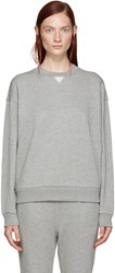 Alexander Wang Grey French Terry Pullover