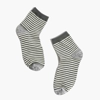 Madewell Striped Ankle Socks Army Green