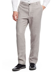 Kenneth Cole Linen Straight Leg Pants Seagull