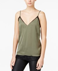 Bar Iii Layered Look Lace Camisole Only At Macy's Dusty Olive