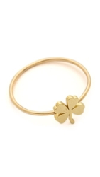 Jennifer Meyer Jewelry Mini Clover Ring Gold