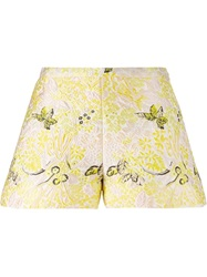 Giambattista Valli Brocade Shorts Yellow And Orange