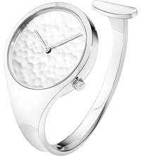 Georg Jensen Vivianna Sterling Silver Hammered Bangle Watch 34Mm