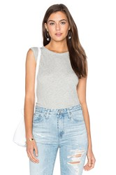 Enza Costa Cashmere Jersey Muscle Tank Gray
