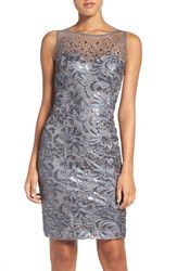 Xscape Evenings Women's Sequin Soutache Sheath Dress