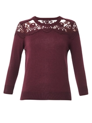 Erdem Manon Lace Insert Cashmere Sweater