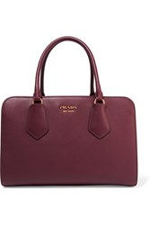 Prada Inside Leather Tote Burgundy