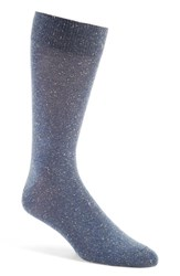 Lorenzo Uomo Men's 'Danubio' Donegal Tweed Socks Denim