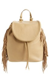 Sam Edelman 'Fifi' Fringe Backpack Brown Camel