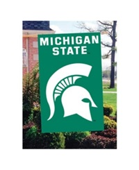 Party Animal Michigan State Spartans Applique House Flag Team Color