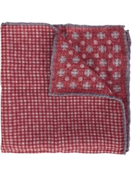 Brunello Cucinelli Checked Patterned Pocket Square Red