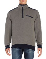 Bugatti Quarter Zip Knit Sweater Beige