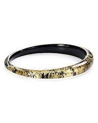 Alexis Bittar Lucite Tapered Bangle Antique Gold