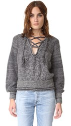 Free People Hoops And Hollas Sweater Plum