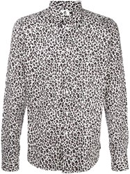 Paul Smith Ps By Animal Print Shirt White