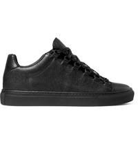 Balenciaga Arena Full Grain Leather Sneakers Black