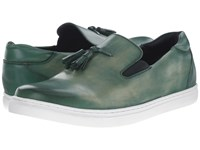 Messico Cain Vintage Green Leather Men's Shoes