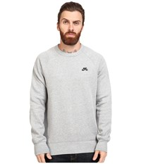 Nike Sb Icon Crew Fleece Dark Grey Heather Black Men's Fleece Gray