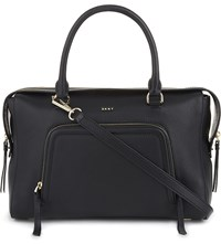 Dkny Chelsea Vintage Grained Leather Satchel Black