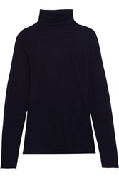 Chloe Cashmere Turtleneck Sweater Navy