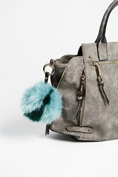 Free People Womens Multi Faux Fur Pompom Bag