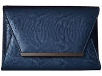 Jessica Mcclintock Ryder Metallic Envelope Clutch Navy Clutch Handbags