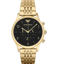Emporio Armani Ar1893 Beta Gold Toned Stainless Steel Watch Go1 Gold 1