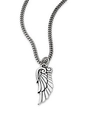 King Baby Studio Sterling Silver Bird Wing Pendant Necklace