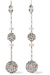 Isabel Marant Silver Tone Crystal Earrings
