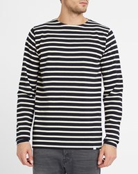 Norse Projects Blue Godtfred Sailor Stripe Cotton Long Sleeve T Shirt