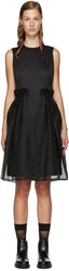 Noir Kei Ninomiya Black Chiffon Overlay Dress