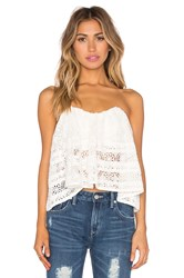 Free People Sydney Lace Tube Top White