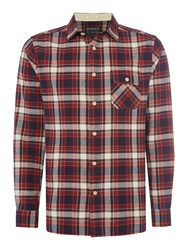 Howick Men's Yosemite Brushed Check Long Sleeve Shirt Rust