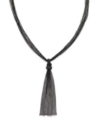 Inc International Concepts Black Tone Tassel Necklace Only At Macy's Jet