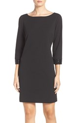 Vince Camuto Women's Embellished Stretch A Line Dress