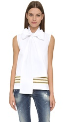 Dsquared Captain Sleeveless Top White