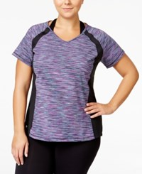 Ideology Plus Size Space Dyed Performance T Shirt Only At Macy's Glacial Space Dye