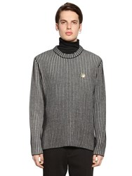 Love Moschino Two Tone Wool Blend Rib Knit Sweater