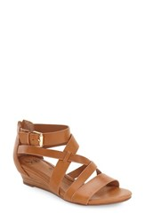 Women's Sofft 'Rianna' Wedge Sandal Luggage