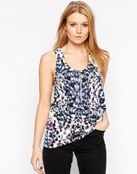 Y.A.S Sleeveless Kaleidescope Print Tank Top Alloverprint
