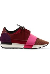 Balenciaga Race Runner Leather Burgundy Pink