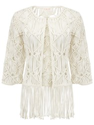 East Hand Crochet Jacket White