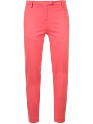 Moncler Slim Tailored Trousers Pink And Purple