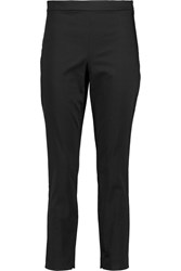Theory Tonerma Stretch Cotton Sateen Skinny Pants Black