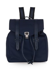 Proenza Schouler Ps1 Leather Trimmed Nylon Backpack Blue