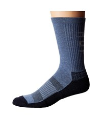 Huf Performance Pro Crew Sock Navy Heather Men's Crew Cut Socks Shoes Gray